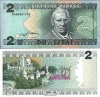 Litauen 54a Bankfrisch 1993 2 Litai - Lithuania