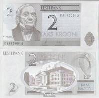 Estland Pick-Nr: 85b Bankfrisch 2007 2 Krooni - Estland