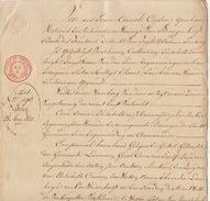 Acte Notaire 1833 Famille Lambrigts Thonet Beckers Lummen  Beringen Beeringen Limbourg - Manuscripts