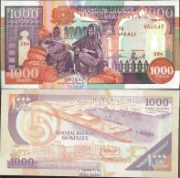 Somalia 37a Bankfrisch 1990 1.000 Shilling - Somalia