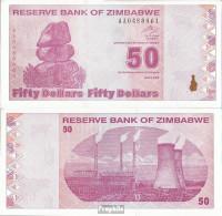Simbabwe Pick-Nr: 96 Bankfrisch 2009 50 Dollar - Simbabwe