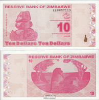 Simbabwe Pick-Nr: 94 Bankfrisch 2009 10 Dollars - Simbabwe