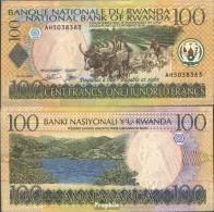 Ruanda Pick-Nr: 29b Bankfrisch 2003 100 Francs Rinder - Ruanda