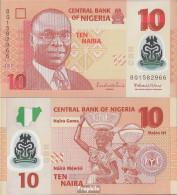 Nigeria Pick-Nr: 39d Bankfrisch 2013 10 Naira - Nigeria