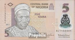 Nigeria Pick-Nr: 38d Bankfrisch 2013 5 Naira - Nigeria