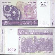 Madagaskar Pick-Nr: 89b Bankfrisch 2008 1.000 Ariary - Madagaskar