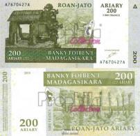 Madagaskar Pick-Nr: 87a Bankfrisch 2004 200 Ariary - Madagaskar
