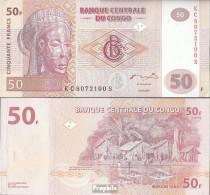 Kongo (Kinshasa) Pick-Nr: 97a Bankfrisch 2007 50 Francs - Kongo