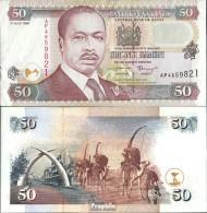 Kenia Pick-Nr: 36a1 Bankfrisch 1996 50 Shillings - Kenia
