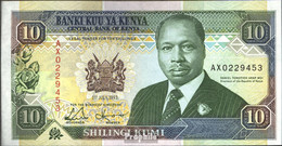 Kenia 24e Bankfrisch 1993 10 Shillings - Kenia