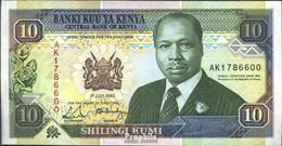 Kenia Pick-Nr: 24b Bankfrisch 1990 10 Schillings - Kenia