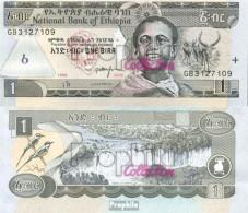 Äthiopien Pick-Nr: 46d Bankfrisch 2006 1 Birr - Aethiopien