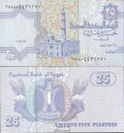 Ägypten Pick-Nr: 57 Signatur 22, (11.6.2007) Bankfrisch 2007 25 Piastres - Aegypten