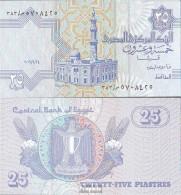 Ägypten Pick-Nr: 57g, Signatur 22 (24.9.2006) Bankfrisch 2006 25 Piastres - Egipto