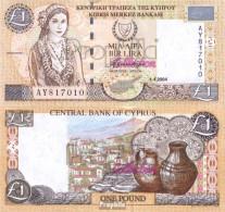 Zypern Pick-Nr: 60d Bankfrisch 2004 1 Pound - Zypern