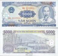 Vietnam Pick-Nr: 108a Bankfrisch 1991 5.000 Dong - Vietnam