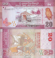 Sri Lanka Pick-Nr: 123a Bankfrisch 2010 20 Rupees - Sri Lanka