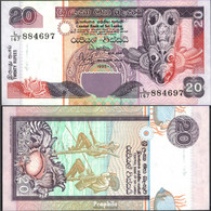 Sri Lanka Pick-Nr: 109a Bankfrisch 1995 20 Rupees - Sri Lanka