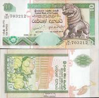 Sri Lanka Pick-Nr: 108e (115e) Bankfrisch 2006 10 Rupees - Sri Lanka