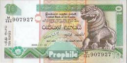 Sri Lanka Pick-Nr: 108d (115d) Bankfrisch 2005 10 Rupees - Sri Lanka