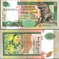 Sri Lanka Pick-Nr: 108a (115a) Bankfrisch 2001 10 Rupees - Sri Lanka
