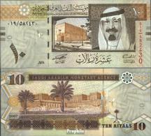 Saudi-Arabien Pick-Nr: 33a Bankfrisch 2007 10 Riyals - Saudi-Arabien