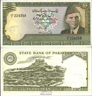 Pakistan Pick-Nr: 39 Bankfrisch 1983 10 Rupees - Pakistan