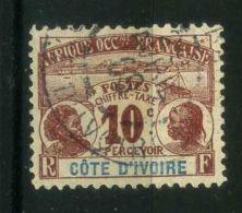 COTE D IVOIRE ( TAXE ) : Y&T N°  2  TIMBRE  BIEN  OBLITERE , A  VOIR . - Oblitérés