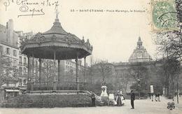 St Saint-Etienne - Place Marengo, Le Kiosque - Carte M.T.I.L. Animée (nurse Et Landau) N° 55 - Saint Etienne