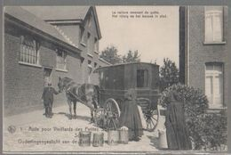 Cpa  Anderlecht  Attelage Calèche  Asile Des Pauvres  1911  Splendide - Gezondheid, Ziekenhuizen