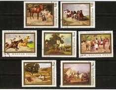 Hongrie - 1979 - Peintres Hongrois - Série Complète De 7 Timbres° - 2666/72 - Cheval  - Calèche - Chasse - Gebraucht