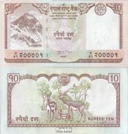 Nepal Pick-Nr: 70 Bankfrisch 2012 10 Rupees - Nepal