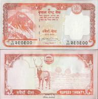 Nepal Pick-Nr: 62a, Signatur 17 Bankfrisch 2008 20 Rupees - Nepal