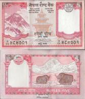 Nepal Pick-Nr: 60a, Signatur 17 Bankfrisch 2008 5 Rupees - Nepal