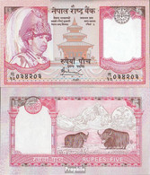 Nepal Pick-Nr: 53b Bankfrisch 2005 5 Rupees - Nepal
