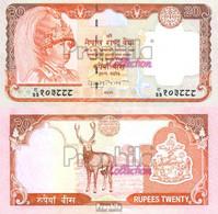 Nepal Pick-Nr: 47 Bankfrisch 2002 20 Rupees - Nepal