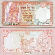 Nepal Pick-Nr: 38b Bankfrisch 1988 20 Rupees - Nepal