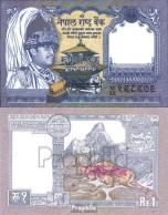 Nepal Pick-Nr: 37, Signatur 13 Bankfrisch 1991 1 Rupee - Nepal
