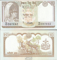 Nepal Pick-Nr: 31b, Signatur 13 Bankfrisch 1987 10 Rupees - Nepal