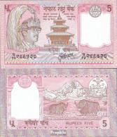 Nepal Pick-Nr: 30a, Signatur 13 Bankfrisch 1987 5 Rupees - Nepal