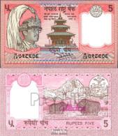 Nepal Pick-Nr: 30a, Signatur 11 Bankfrisch 1987 5 Rupees - Nepal