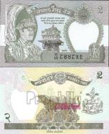Nepal Pick-Nr: 29b, Signatur 13 Bankfrisch 1981 2 Rupees - Nepal