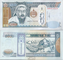Mongolei Pick-Nr: 67c Bankfrisch 2011 1.000 Tugrik - Mongolei
