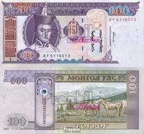 Mongolei Pick-Nr: 65a Bankfrisch 2000 100 Tugrik - Mongolia