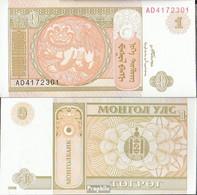 Mongolei Pick-Nr: 61A A Bankfrisch 2008 1 Tugrik - Mongolei