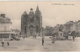 27Le Neubourg L'église Et La Place TBE - Le Neubourg