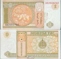 Mongolei Pick-Nr: 52 Bankfrisch 1993 1 Tugrik - Mongolei