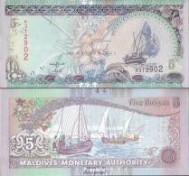 Malediven Pick-Nr: 18e Bankfrisch 2011 5 Rufiyaa - Maldiven