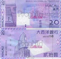 Macau Pick-Nr: 81 Bankfrisch 2005 20 Patacas - Macao