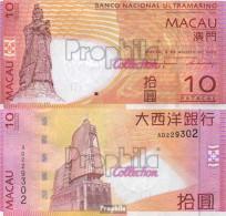 Macau Pick-Nr: 80a Bankfrisch 2005 10 Patacas - Macau